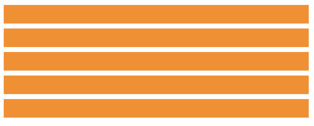 A single column of orange rectangles in five rows.