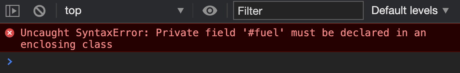 Error when declaring <code>#</code> directly in constructor function.