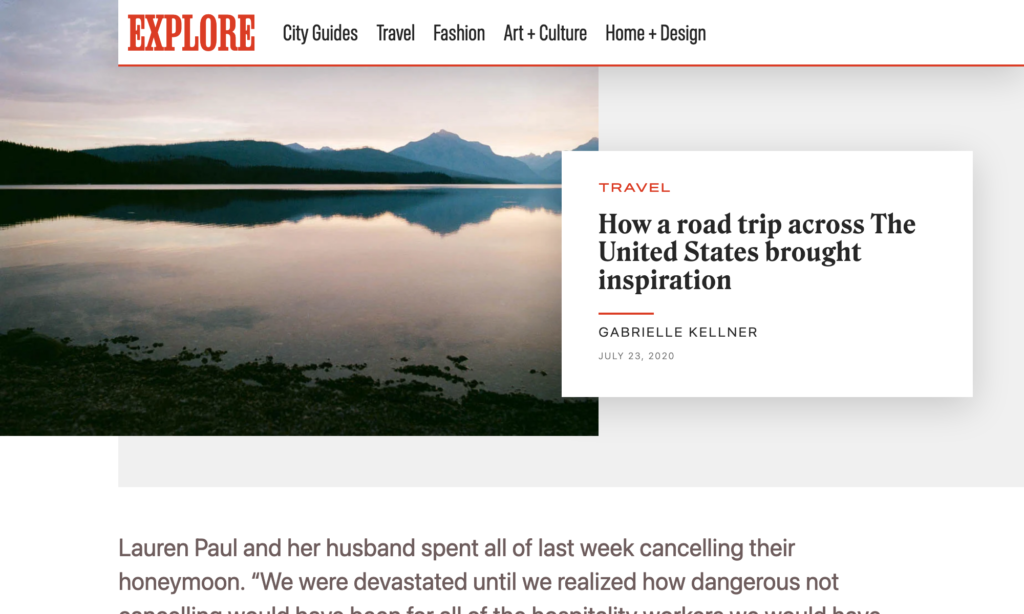 Editorial page demo at a desktop screen size